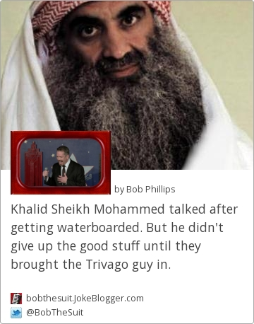 Joke :: Khalid Sheikh Mohammed talked after getting ...