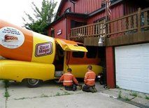 Oscar Mayer Wienermobile crashes into Wisconsin home